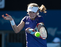 EKATERINA MAKAROVA..Tennis - Apia Sydney International -  Sydney 2013 -  Olympic Park - Sydney - NSW - Australia. Sunday 6th January  2013. .© AMN Images, 30, Cleveland Street, London, W1T 4JD.Tel - +44 20 7907 6387.mfrey@advantagemedianet.com.www.amnimages.photoshelter.com.www.advantagemedianet.com.www.tennishead.net