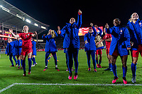 CARSON, CA - FEBRUARY 7: Ali Krieger #11 of the United States celebrates during a game between Mexico and USWNT at Dignity Health Sports Park on February 7, 2020 in Carson, California.