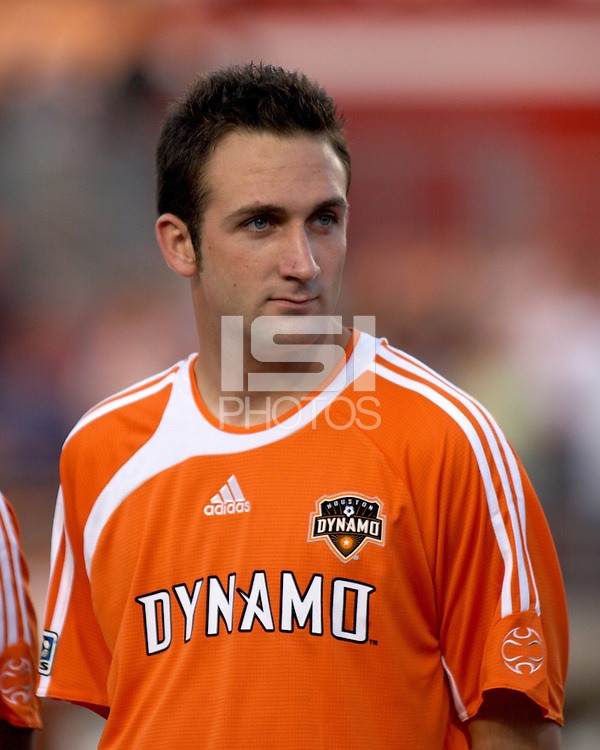 Houston's Ryan Cochrane prepares for the Kansas City Wizards at Robertson Stadium in Houston, TX on Saturday April 8, 2006.  Kansas City beat Houston 2-1.