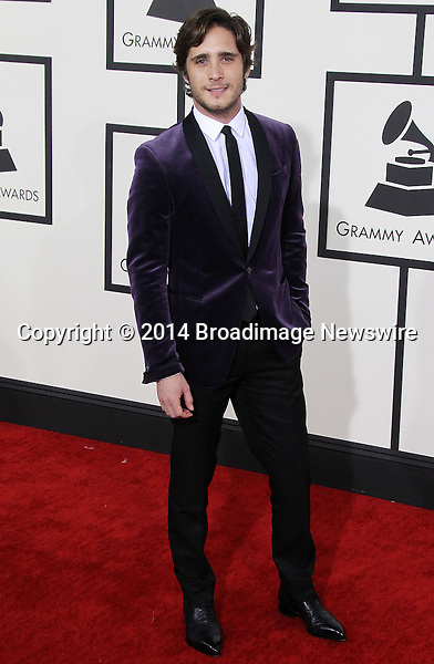 Pictured: Diego Boneta<br /> Mandatory Credit &copy; Frederick Taylor/Broadimage<br /> 56th Annual Grammy Awards - Red Carpet<br /> <br /> 1/26/14, Los Angeles, California, United States of America<br /> <br /> Broadimage Newswire<br /> Los Angeles 1+  (310) 301-1027<br /> New York      1+  (646) 827-9134<br /> sales@broadimage.com<br /> http://www.broadimage.com