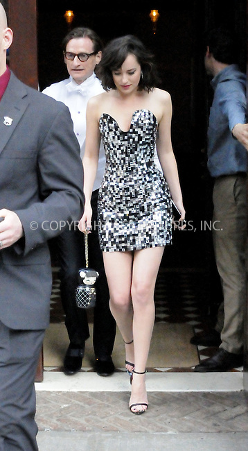 WWW.ACEPIXS.COM<br /> <br /> May 4 2015, New York City<br /> <br /> Actress Dakota Johnson leaving a downtown hotel on May 4 2015 in New York City.<br /> <br /> <br /> Please byline: Curtis Means/ACE Pictures<br /> <br /> ACE Pictures, Inc.<br /> www.acepixs.com, Email: info@acepixs.com<br /> Tel: 646 769 0430