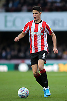 Christian Norgaard of Brentford in action during Brentford vs Luton Town, Sky Bet EFL Championship Football at Griffin Park on 30th November 2019