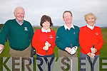 Waterville Golf Club's new officers for 2012 at the Captains Drive In on Sunday last pictured l-r Willie O'Driscoll President, Helen Coffey Lady Captain, Pat Everett Captain & Aine O'Driscoll Lady President.