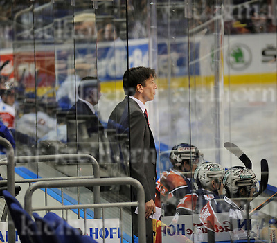 October 04-2016,Mercedes-Benz Arena,Berlin,Germany<br /> Champions Hockey League<br /> Ice Hockey	 <br /> Eisb&auml;ren Berlin - EV Zug<br /> Berlin`s head coach Uwe Krupp before the Game,Eisb&auml;ren win 4:0