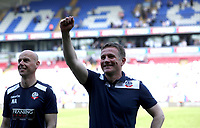Bolton Wanderers manager Phil Parkinson celebrates at the end of todays match<br /> <br /> Photographer Rachel Holborn/CameraSport<br /> <br /> The EFL Sky Bet Championship - Bolton Wanderers v Nottingham Forest - Sunday 6th May 2018 - Macron Stadium - Bolton<br /> <br /> World Copyright &copy; 2018 CameraSport. All rights reserved. 43 Linden Ave. Countesthorpe. Leicester. England. LE8 5PG - Tel: +44 (0) 116 277 4147 - admin@camerasport.com - www.camerasport.com
