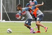 Lorenzo Insigne<br /> ritiro precampionato Napoli Calcio a  Dimaro 23 Luglio 2014<br /> <br /> Preseason summer training of Italy soccer team  SSC Napoli  in Dimaro Italy July 23, 2014