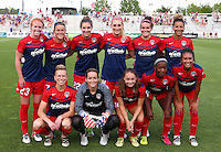 Boyds, MD - Saturday July 09, 2016: Washington Spirit starting eleven prior to a regular season National Women's Soccer League (NWSL) match between the Washington Spirit and the Chicago Red Stars at Maureen Hendricks Field, Maryland SoccerPlex.