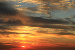Israel, sunset at Herzliya Beach