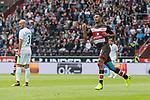 22.07.2017, Millerntor-Stadion, Hamburg, GER, FSP, FC St. Pauli vs SV Werder Bremen<br /> <br /> im Bild<br /> Aziz Bouhaddouz (St. Pauli #9) bejubelt seinen Treffer zum 1:0, <br /> <br /> Foto &copy; nordphoto / Ewert