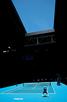 5th January 2020; RAC Arena, Perth, Western Australia; ATP Cup Australia, Perth, Day 3; Italy versus Norway; Fabio Fognini of Italy serves during his match against Casper Ruud of Norway - Editorial Use
