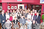 ANNIVERSARY; Michael and Ann Moran of Tralee who celebrated their 40th wedding anniversary at O'Donnell's Bar & Restaurant, Mounthawk, Tralee on Saturday night with family and friends. .50TH: Aileen O'Mahony of Rahoonane who celebrated her 50th Birthday in O'Donnells Bar and Restaurant, Mounthawk on Saturday night with family and friends. Sreated l-r: Joe Griffin,Theresa O'Sullivan, Aileen O'Mahony (Birthday lady), Liz Griffin and Ger Griffin. Back l-r: Jamie and Jennifer Buckley, Shani Lonergan, Becky O'Sullivan,Michael and Sean O'Mahony, Tara O'Sullivan, Luke and Anthony O'Sullivan.Brenda, daughter of Mary and Con Scanlon, Glenoe, Listowel, and Johnny, son of Eileen and Moss Hannon, Ballyconnell, Kilflynn, who were married on Saturday at Our Lady of Fatima/St Sinens Church, by Fr Mossie Brick. Best man was Matt Hannon,Jeremy Hannon,Maurice McElligott and Joseph Scanlon. Bridesmaids were Ann Marie Scanlon,Maura O'Connell,Fiona Hannon and Claire Quilter. Flowergirls were Claire O'Connell and Aoibhe Linnane. Pageboy was Bobby O'Connell. The reception was held at Ballygarry House Hotel & Spa, Tralee. The couple will reside Kilflynn .MARKING: Marking their cards at the New Castlewest Hospice Foundation at the Dogs at the Kingdom Greyhound Stadium, Tralee on saturday night.l-r: Susan Aherne,Mary Barrett,Dolores Keane and Rose Dooley(Newcastlewest) .DINNER; out for dinner at the Kingdom Greyhound Stadium, Tralee on Saturday night and supporting the New Castlewest Hospice Foundation night at the dogs. l-r: John O'Flynn,Geraldine and Tom Cantillon and Karen O'Sullivan. .PAL: Paul Mahony(Athea),Craig Moriarty (Abbeydorney) and Fiona?n Mackessy(Tralee) great pal at the New Castlewest Hospice Foundation night at the Dog at the Kingdom Greyhound Stadium, Tralee on Saturday night. .SUPPORTING: Supporting the New Castlewest Hospice Foundation night at the dogs. Front l-r: Linda Butler(Ballymacelligott),Mairead Jones and Peg Hough (New Castlewest). back l-r: Aidan Butler(Ballymac