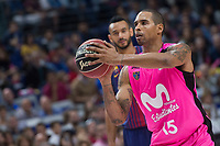 Estudiantes Sylven Landesberg during Liga Endesa match between Estudiantes and FC Barcelona Lassa at Wizink Center in Madrid, Spain. October 22, 2017. (ALTERPHOTOS/Borja B.Hojas) /NortePhoto.com