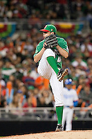 15 March 2009: #46 Oliver Perez of Mexico pitches against Korea during the 2009 World Baseball Classic Pool 1 game 2 at Petco Park in San Diego, California, USA. Korea wins 8-2 over Mexico.