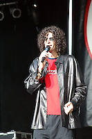 Howard Stern onstage at KROQ's Dysfunctional Family Picnic Concert at Jones Beach Theater in Long Island, NY; June 8, 2002. Photo by Sara Jaye/PictureGroup