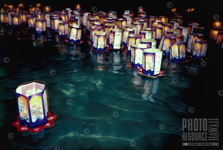 Obon festival, floating lanterns, Haleiwa, Oahu