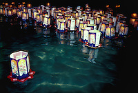 Obon festival, floating lanterns, Haleiwa, Oahu