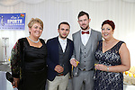 2/8/2014   (with compliments).          Alan's Sport Extravaganza Slick and Stylish Ball in the South Court Hotel, Limerick which was held in memory of Alan Feeley and in aid of the Irish Kidney Association(IKA).  Pictured are Angie Lyons, Irish Kidney Association,(IKA), Swan, Co. Laois,  Bobbie Lyons, Swan, Co. Laois, James Reynolds, IKA and Jo Dowdall, IKA, Swan.. Picture Liam Burke/Press 22