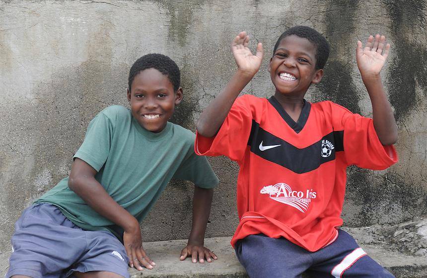 Young boys in tiny Afro-Ecuadorian village of El Chota, Northern Ecuador.