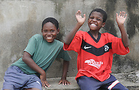 Young boys in tiny Afro-Ecuadorian village of El Chota, Northern Ecuador.