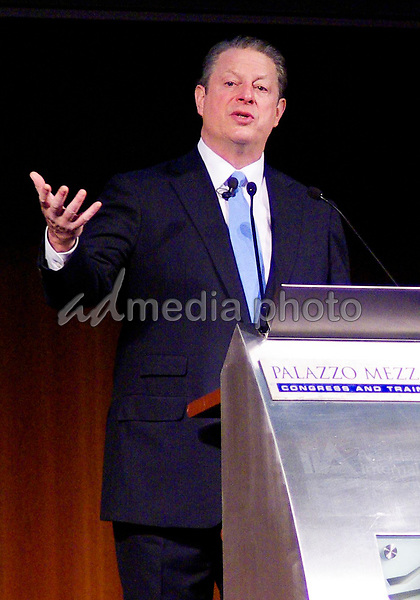 10 December 2008 - Milan, Italy - Al Gore. Al Gore speaks in Milan. Photo Credit: Marco Becker/Marka/AdMedia