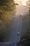 Hilly Ontario Country Road in Morning Sunshine