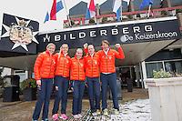 Februari 04, 2015, Apeldoorn, Omnisport, Fed Cup, Netherlands-Slovakia, Dutch team at Hotel<br /> Photo: Tennisimages/Henk Koster