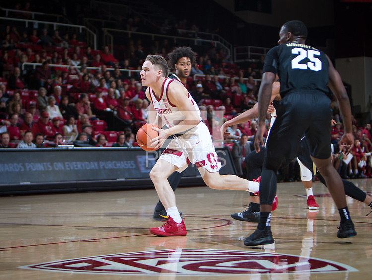 STANFORD, CA - January 26, 2019: Isaac White at Maples Pavilion. The Stanford Cardinal defeated the Colorado Buffaloes 75-62.