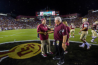 TALLAHASSEE, FLA. 9/5/15-During first half action in the Florida State University vs. Texas State University football game at Doak Campbell Stadium in Tallahassee.<br /> <br /> COLIN HACKLEY PHOTO