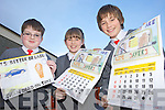 SLOW DOWN: Dromclough national school pupils in Listowel whose drawings were submitted for Kerry County Council's road safety calendar for 2012, l-r: Darragh McAuliffe, Elena McElligott, Padraig Enright.