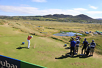 Ashun Wu (CHN) tees off the par3 7th tee during Friday's Round 2 of the 2018 Dubai Duty Free Irish Open, held at Ballyliffin Golf Club, Ireland. 6th July 2018.<br /> Picture: Eoin Clarke | Golffile<br /> <br /> <br /> All photos usage must carry mandatory copyright credit (&copy; Golffile | Eoin Clarke)