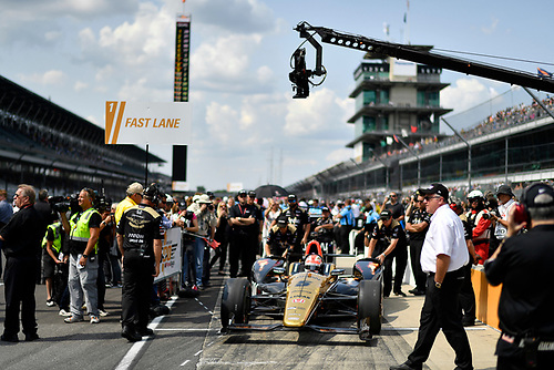 21-22 May, 2016, Indianapolis, Indiana, USA<br /> James Hinchcliffe<br /> ©2016, Scott R LePage <br /> LAT Photo USA