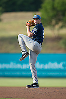 Asheville Tourists starting pitcher Ryan Castellani (6) in action against the Kannapolis Intimidators at Intimidators Stadium on June 25, 2015 in Kannapolis, North Carolina.  The Intimidators defeated the Tourists 9-8.  (Brian Westerholt/Four Seam Images)