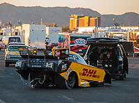 Feb 23, 2019; Chandler, AZ, USA; NHRA funny car driver J.R. Todd during qualifying for the Arizona Nationals at Wild Horse Pass Motorsports Park. Mandatory Credit: Mark J. Rebilas-USA TODAY Sports