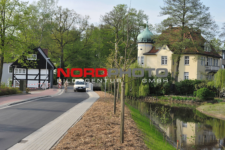Fertigstellung Marienstra&szlig;e - Alte Wassermuehle Vechta -im Fr&uuml;hling <br /> <br /> Wetter<br /> <br /> <br /> Foto: &copy; nph (nordphoto )