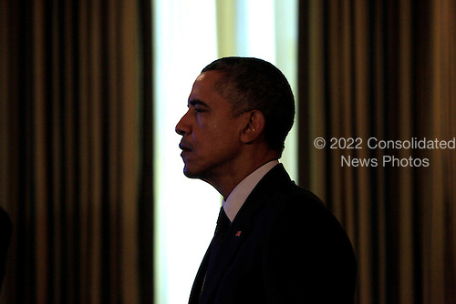 """United States President Barack Obama views White House Demo Day which showcases the important role entrepreneurship plays in America's economy. Unlike a private-sector Demo Day, where entrepreneurs and startups pitch their ideas to funders, innovators from around the country  """"demo"""" their individual stories exhibits on the State Floor of the White House in Washington, DC on August 4, 2015.<br /> Credit: Dennis Brack / Pool via CNP"""
