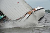 ZEILEN: TERHERNE: Snitser Mar, SKS skûtsjesilen, skûtsje Akkrum, ©foto Martin de Jong