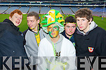 Noel Slattery, Maurice Fitzgerald, Tom Long, Jason Cahill and Adam O'Grady Castkegregory fans at the All Ireland Junior Club Championship at Croke park on Sunday....