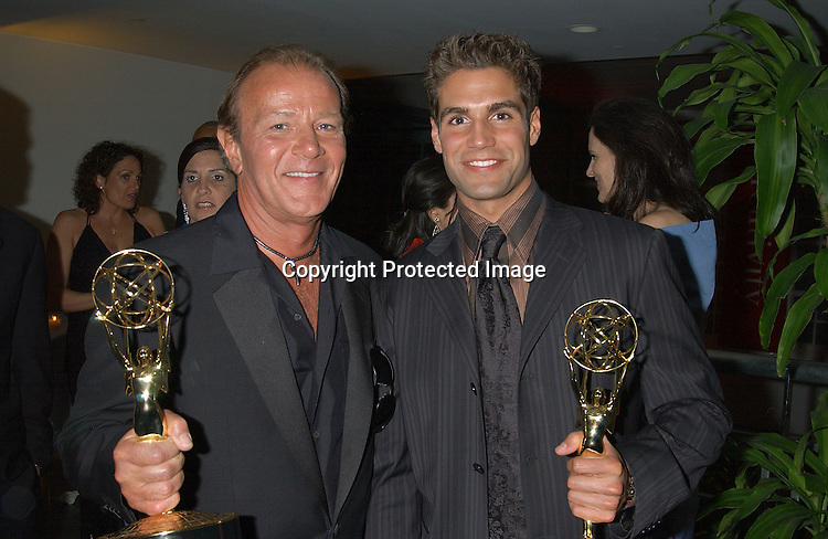 Ben Hendrickson & Jordi Vilasuso who both won Emmy's                               ..at the P & G Post Daytime  Emmy Party on May 16,2003 ..Photo by Robin Platzer, Twin Images