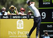 10th February 2018, Lake Karrinyup Country Club, Karrinyup, Australia; ISPS HANDA World Super 6 Perth golf, third round; Lucas Herbert (AUS)  drives