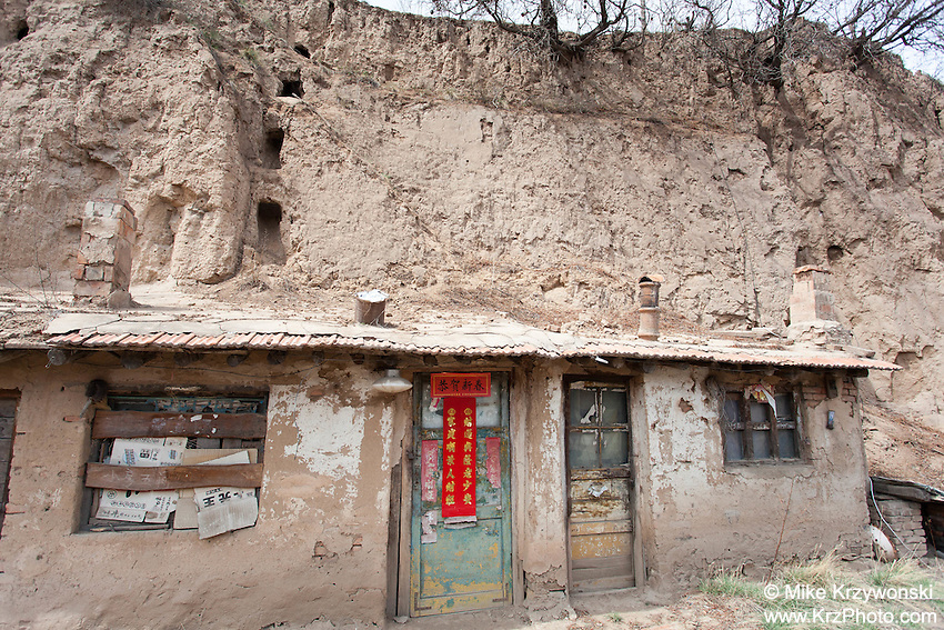 Cave house in a remote village in China