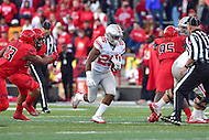 College Park, MD - NOV 12, 2016: Ohio State Buckeyes running back Mike Weber (25) runs through a huge hole during game between Maryland and Ohio State at Capital One Field at Maryland Stadium in College Park, MD. (Photo by Phil Peters/Media Images International)