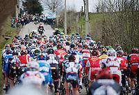 peloton up the 'bergs'<br /> <br /> Omloop Het Nieuwsblad 2015