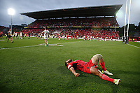 Konrad Hurrell of Tonga looks up to the sky dejected after losing the Semi Final against England. 2017 Rugby League World Cup Semi Final, England v Tonga at Mt Smart Stadium, Auckland, New Zealand. 25 November 2017 © Copyright Photo: Anthony Au-Yeung / www.photosport.nz MANDATORY CREDIT/BYLINE : Andrew Cornaga/SWpix.com/PhotosportNZ