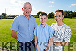 Cian Mangan graduating from Abbeydorney NS on Monday night standing with his dad and mom Leonard and Kerry Mangan