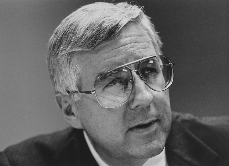 Sen. Mike Enzi, R-Wyo., in May 1996. (Photo by Maureen Keating/CQ Roll Call via Getty Images)