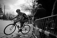 he had to pedal extra hard to get up there, but Christian Mager (DEU/Cult) corners on top of the Côte de Stockeu (2300m/9.9%) <br /> <br /> 101th Liège-Bastogne-Liège 2015