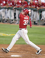 Cam Seitzer #33 of the Oklahoma Sooners plays against the Arizona State Sun Devils in the first of a two-game series on March 15, 2011 at Packard Stadium, Arizona State University, in Tempe, Arizona. .Photo by:  Bill Mitchell/Four Seam Images.