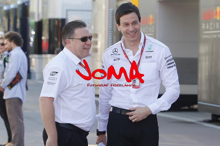 Toto Wolff Mercedes AMG F1 at Formula 1 World Championship,FIA, Spanish Grand Prix, Qualifying, Barcelona. 13.05.2017