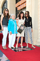 LOS ANGELES - AUG 22: Valerie Bertinelli, Betty White, Jane Leeves, Wendy Malick at a ceremony where Valerie Bertinelli is honored with a star on the Hollywood Walk of Fame on August 22, 2012 in Los Angeles, California
