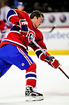10 April 2010: Montreal Canadiens' defenseman Jaroslav Spacek warms up prior to the last game of their regular season against the Toronto Maple Leafs at the Bell Centre in Montreal, Quebec, Canada. The Leafs defeated the Habs 4-3 in sudden death overtime, as the Canadiens advance to the Stanley Cup Playoffs with the single point. Mandatory Credit: Ed Wolfstein Photo